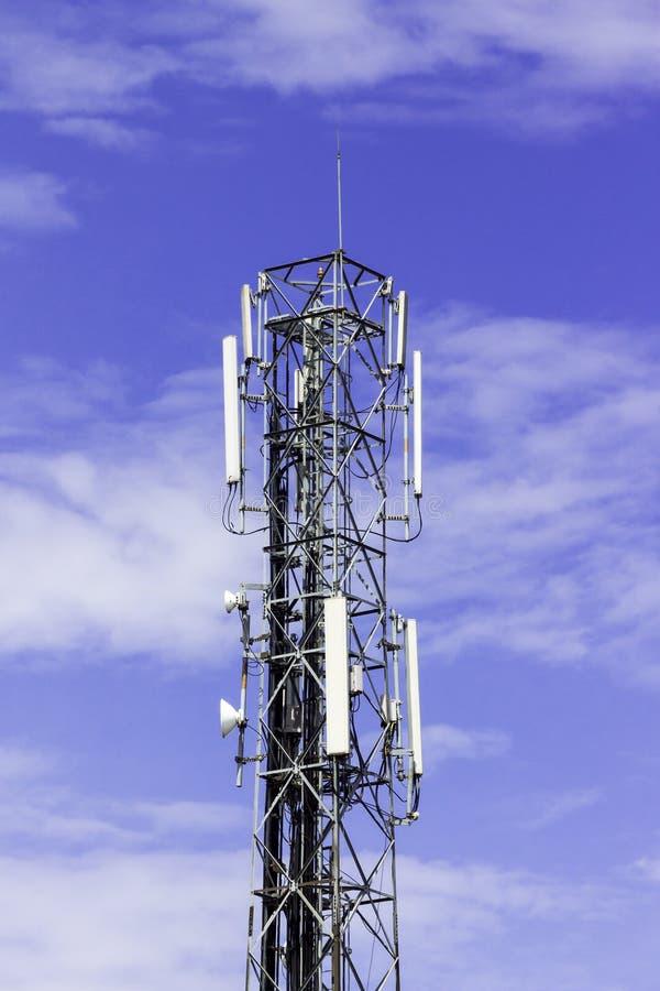 Telecommunication Room Design: Radio Telecommunication Infrastructure Towers Stock Image
