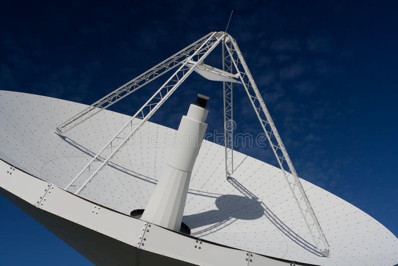 Radio Telescope 1. Mt Pleasant 12m radio telescope, Cambridge, Tasmania. Close-up showing main reflector royalty free stock photos