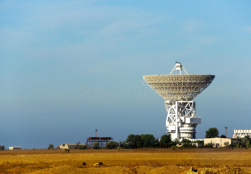 Radio-telescope. In Astronomic Observatory. National Space Center in Ukraine royalty free stock photo