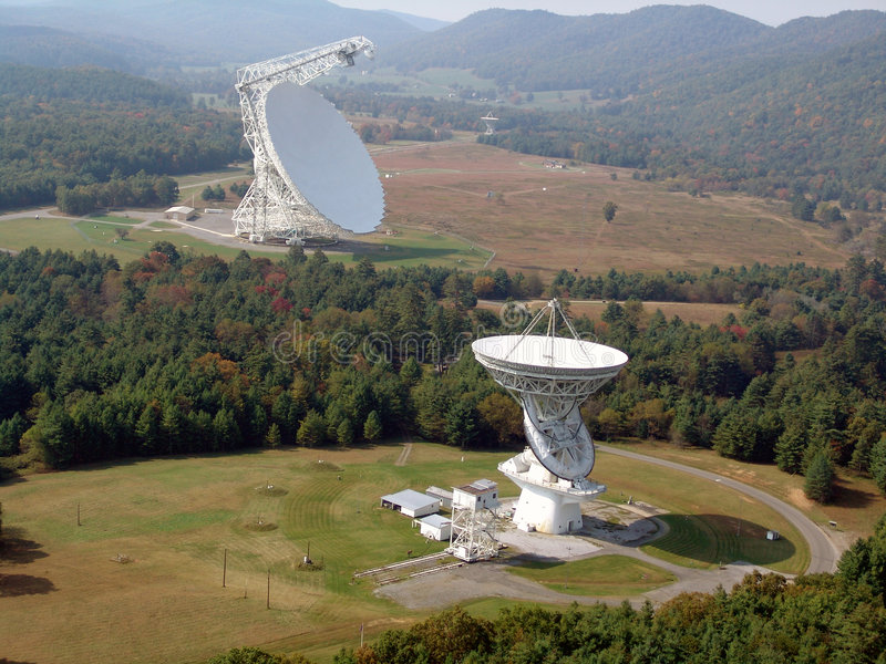 Radio Telescope. Robert C. Byrd Green Bank Radio Telescope royalty free stock photo
