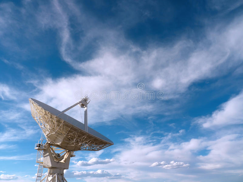 Radio Telescope. At the Very Large Array (VLA) in New Mexico, USA stock image