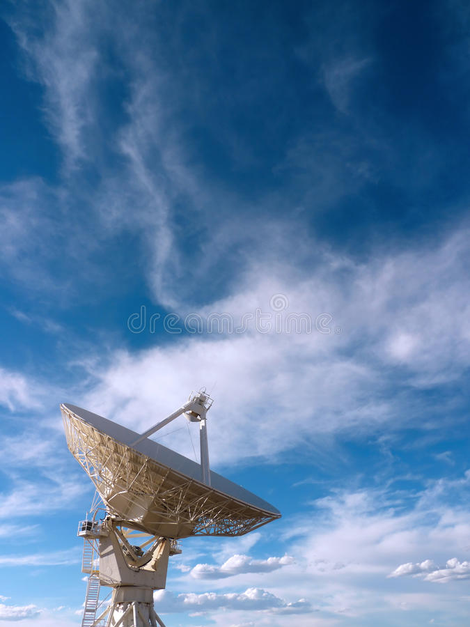 Radio Telescope. At the Very Large Array (VLA) in New Mexico, USA stock photography