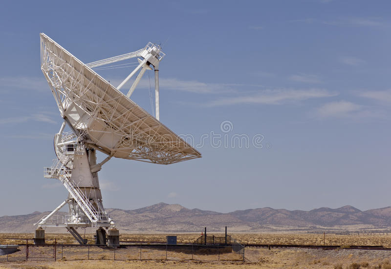 Radio Telescope. At the Very Large Array (VLA) of the National Radio Astronomy Observatory near Sorocco New Mexico royalty free stock photography