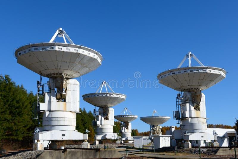 Radio telescope. Ai Radio Astronomy Observatory of JAPAN stock photos