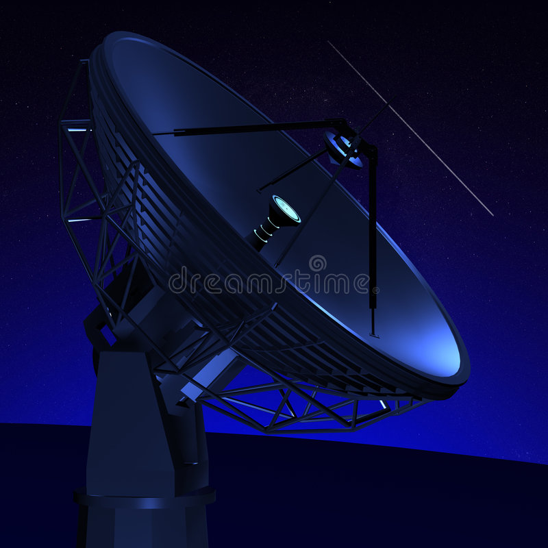 RADIO TELESCOPE royalty free illustration