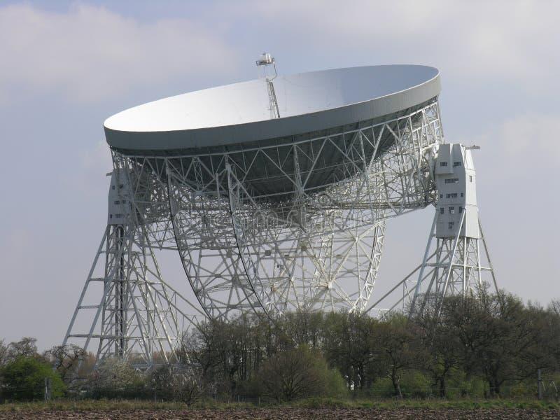 Radio telescope. Lovell radio telescope at Jodrell Bank Observatory royalty free stock photos