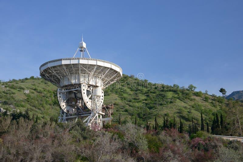 Radio telescope. In Crimea, Ukraine stock photos