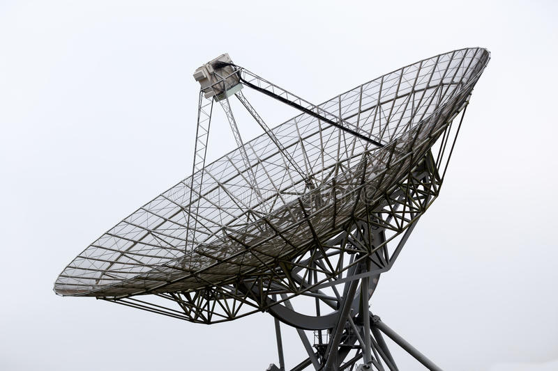 Radio telescope dish. Picture of a radio telescope dish in Westerbork, the Netherlands stock photography
