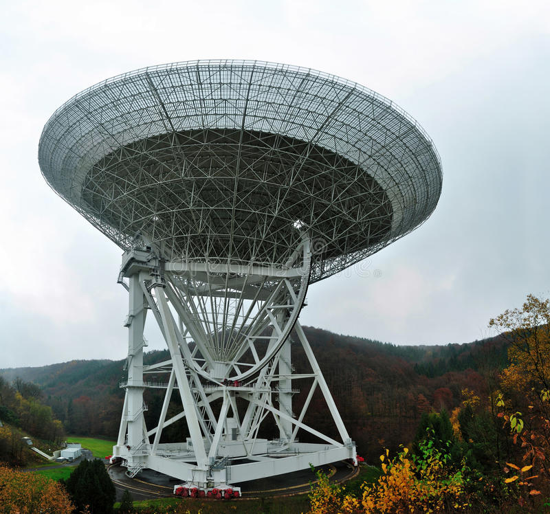 Radio Telescope Effelsberg stock image