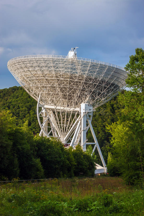 Radio Telescope Effelsberg. In Germany with a diameter of 100 meters, second largest fully steerable radio telescope on the Earth royalty free stock photography