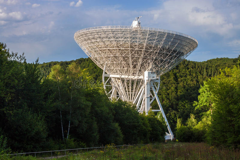 Radio Telescope Effelsberg. In Germany with a diameter of 100 meters, second largest fully steerable radio telescope on the Earth royalty free stock images