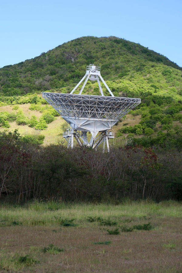 Radio Telescope. On the island of Saint Croix, part of the very large  array royalty free stock photos