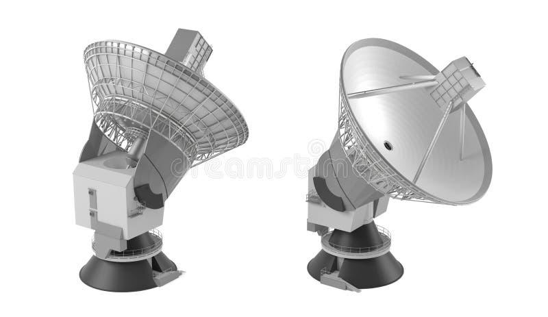 Radio-teleskop. Kramantenn royaltyfri illustrationer