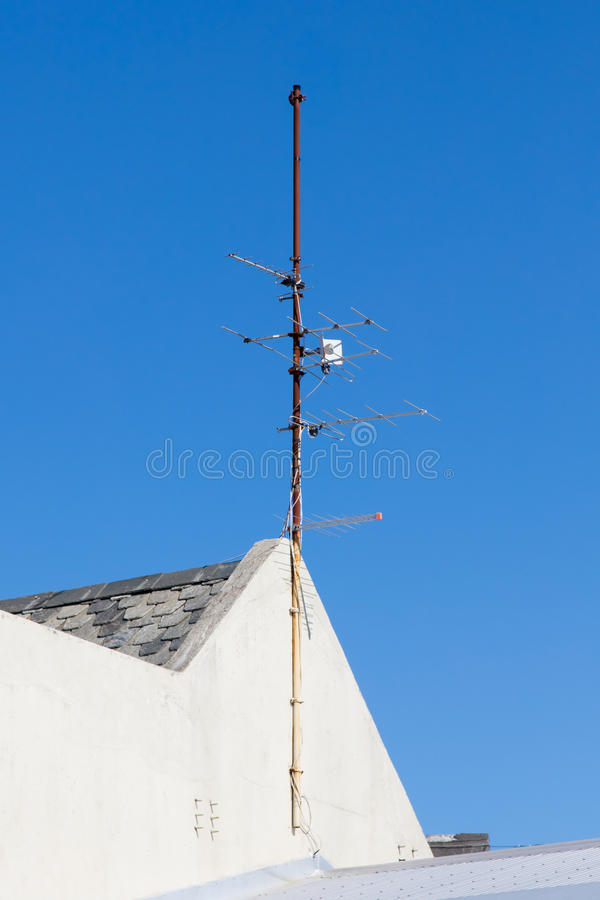 Radio/Televisieantenne stock afbeeldingen