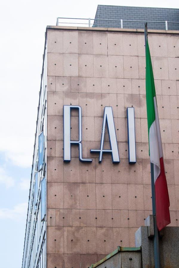 Radio Televisione Italiana, viejo logotipo de RAI de la radio estatal y de la televisión italianas imagenes de archivo