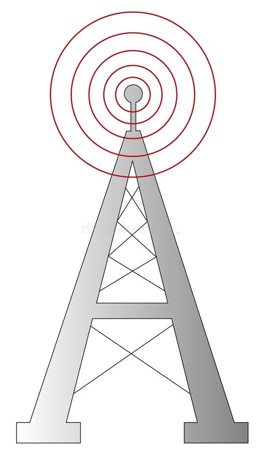 Radio toren royalty-vrije illustratie