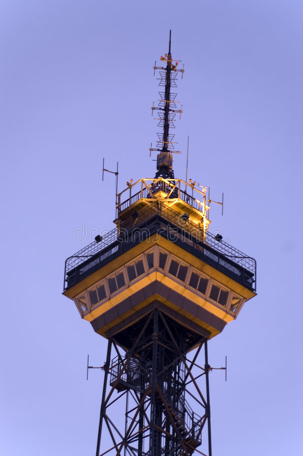 Radio toren West-Berlijn tiende stock afbeelding