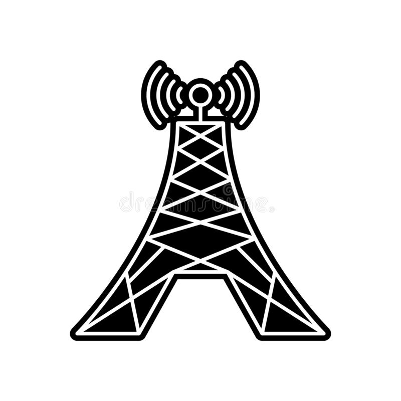 Radio tower icon. Element of Media tool for mobile concept and web apps icon. Glyph, flat icon for website design and development. App development on white vector illustration