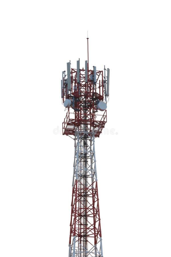 Radio Tower Isolated On White Background. Stock Photo
