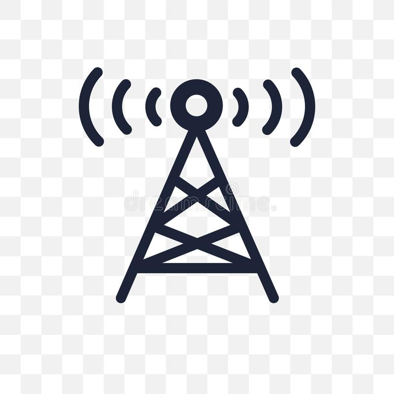 Radio tower transparent icon. Radio tower symbol design from Map royalty free stock photography