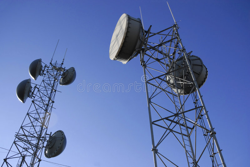 Radio Towers stock image