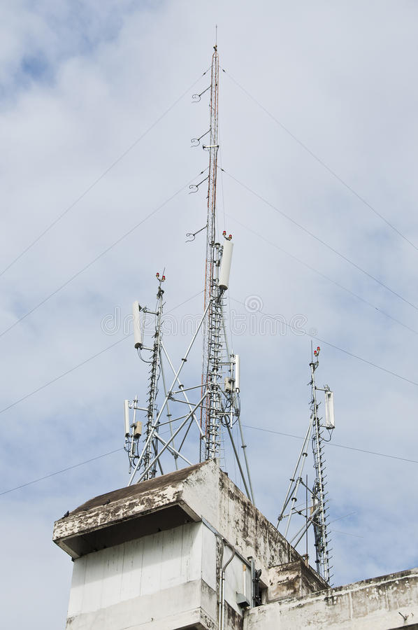 Download Radio transmission tower. stock photo. Image of mobile - 33590546