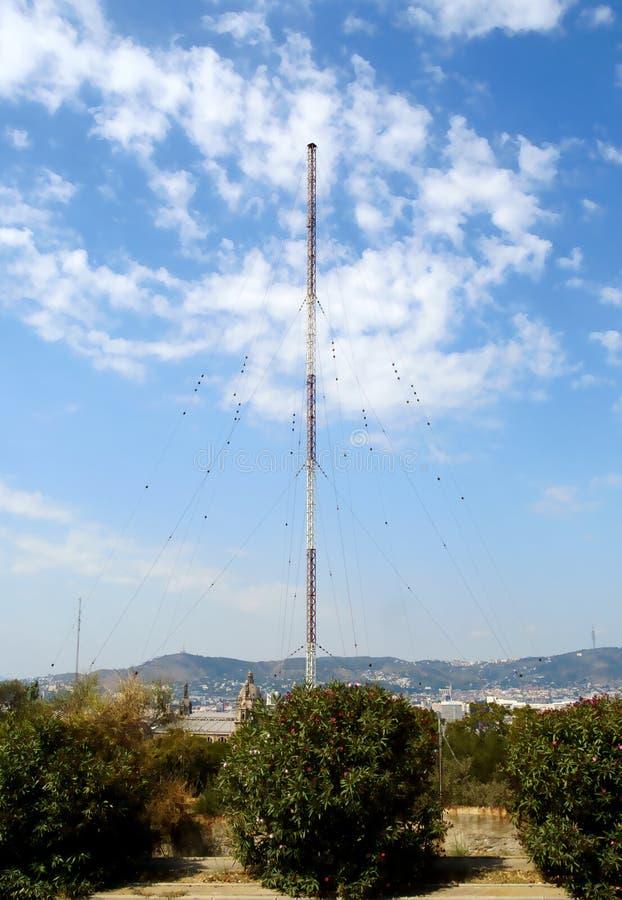 Radio Transmitter. Large radio transmitter antenna for mediumwave royalty free stock photo