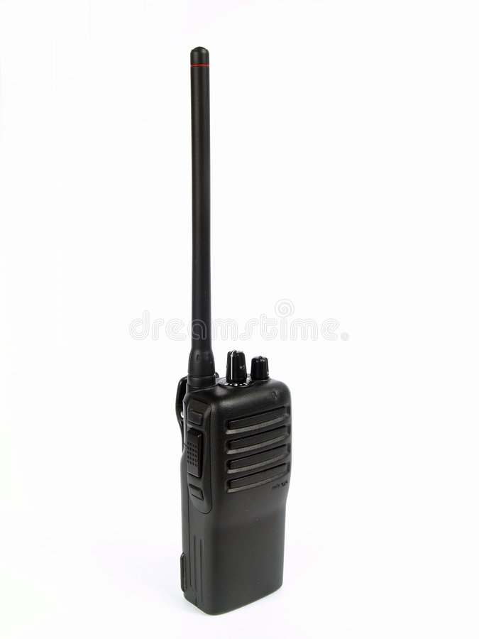 Radio transmitter. On white background royalty free stock images