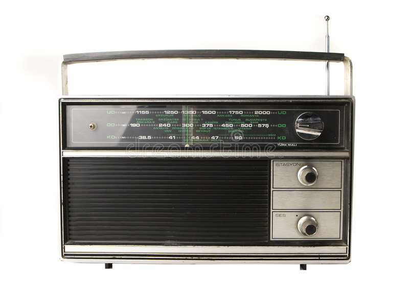 Radio vieja fotos de archivo
