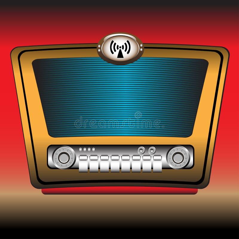 Radio vieja stock de ilustración