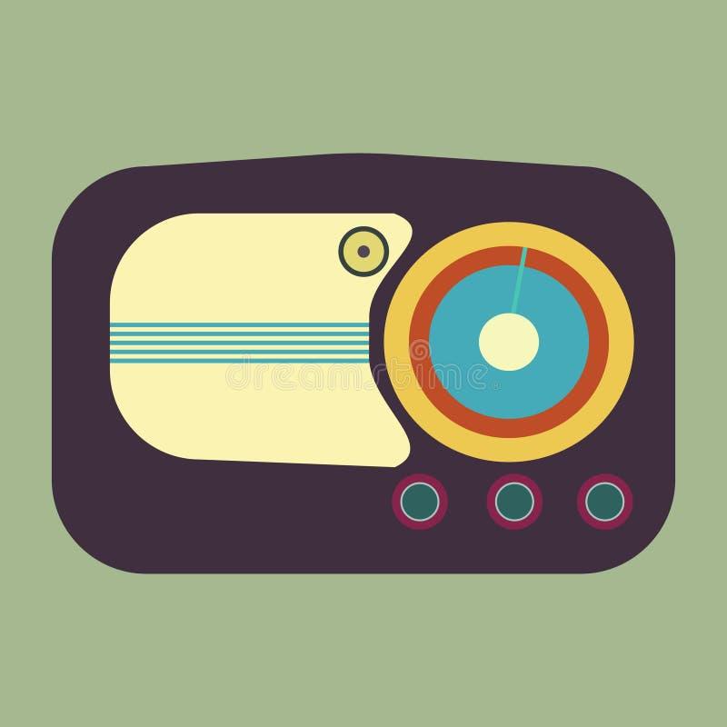 Radio vieja Ejemplo realista de una radio vieja ilustración del vector