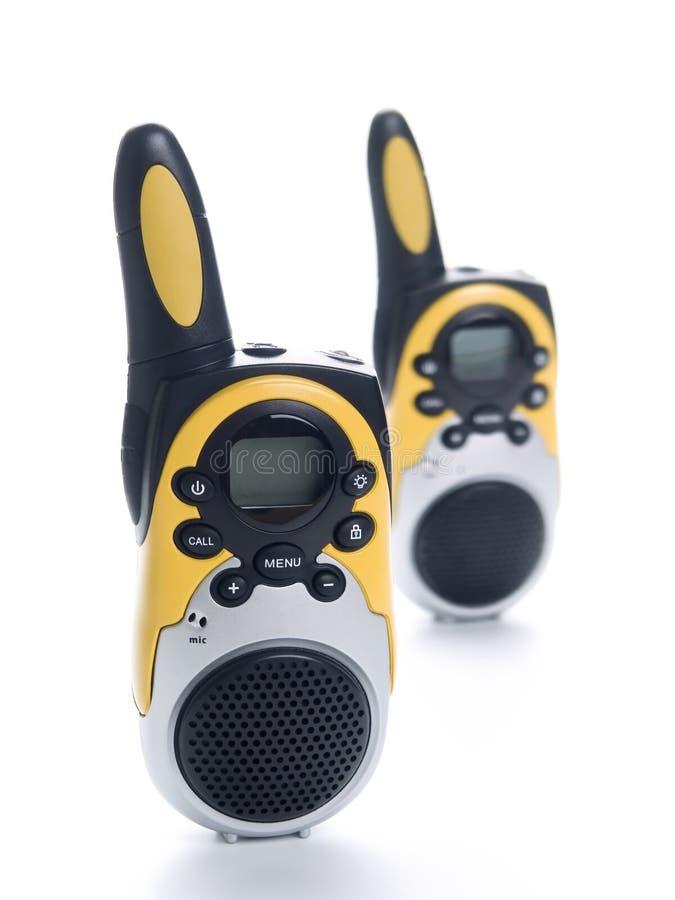 Radio walkie talkie pair stock photos