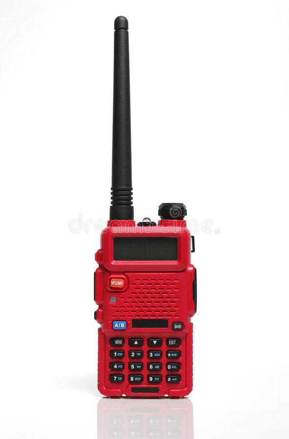 Radio Walkie Talkie On White Background Royalty Free Stock Photos