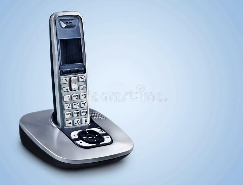 Radio zwarte telefoon op achtergrond stock foto