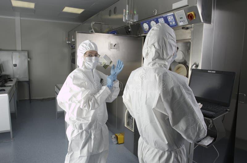 Radioactief laboratorium stock foto