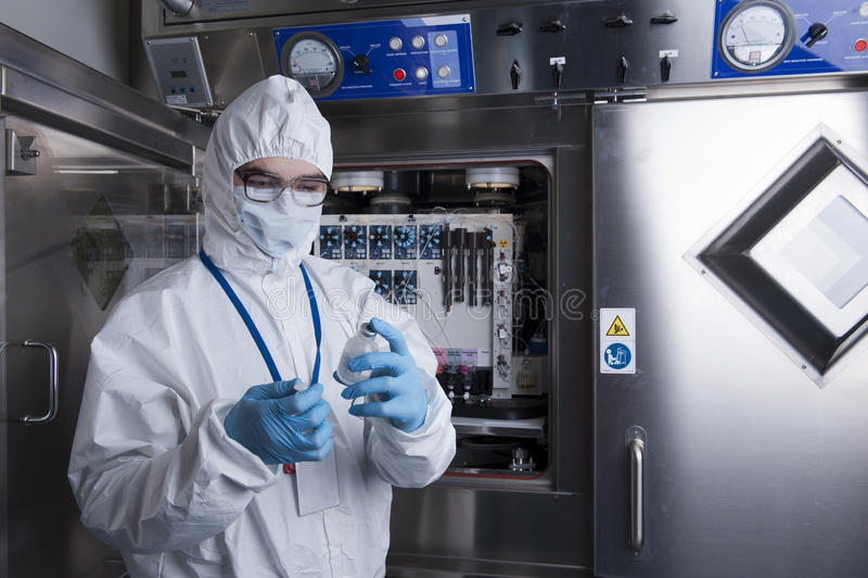 Radioactief laboratorium stock afbeelding