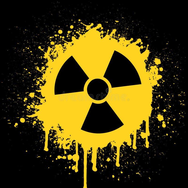 Radioactief Pictogram vector illustratie