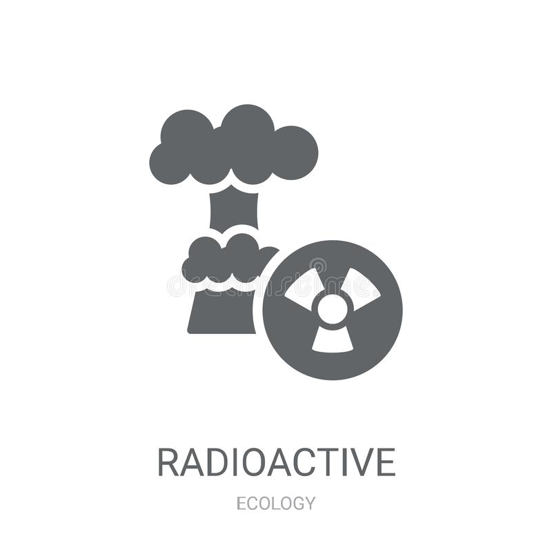 Radioactief pictogram  stock illustratie