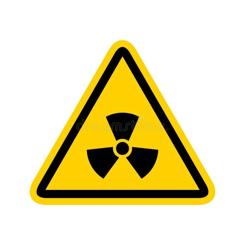 Radioactief pictogram kernsymbool De stralingsgevaar van de uraniumreactor Het radioactieve giftige ontwerp van het gevaarsteken royalty-vrije illustratie