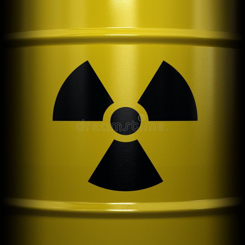 Radioactief Symbool royalty-vrije stock foto's