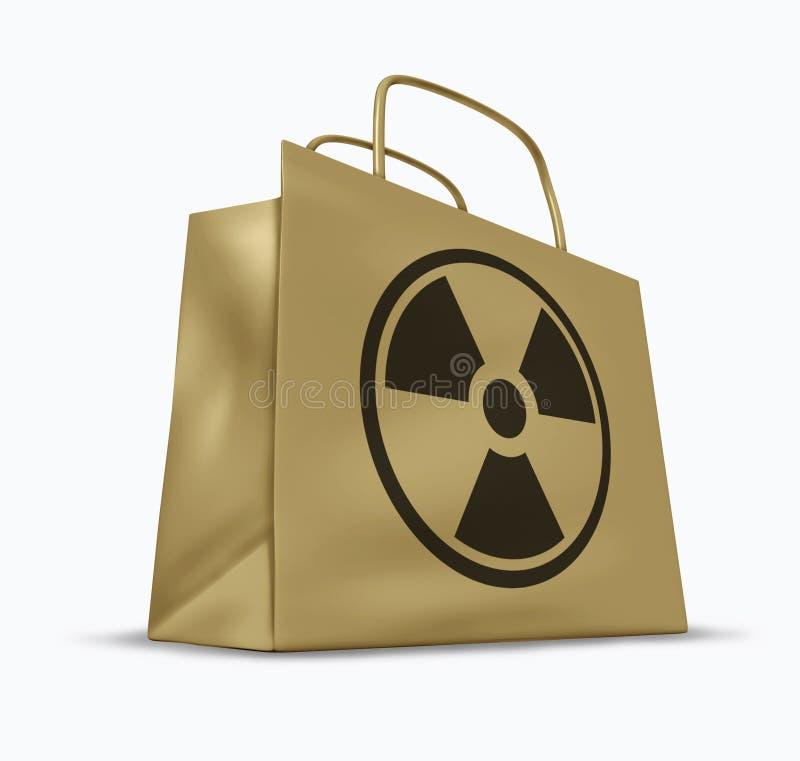 Radioactieve en straling vervuilde goederen royalty-vrije illustratie