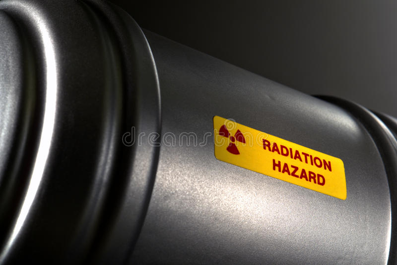 Radioactieve Materiële Container stock fotografie