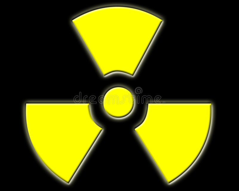 Radioactive royalty free illustration