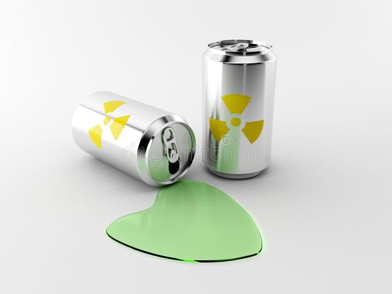 Radioactive aluminum bottle