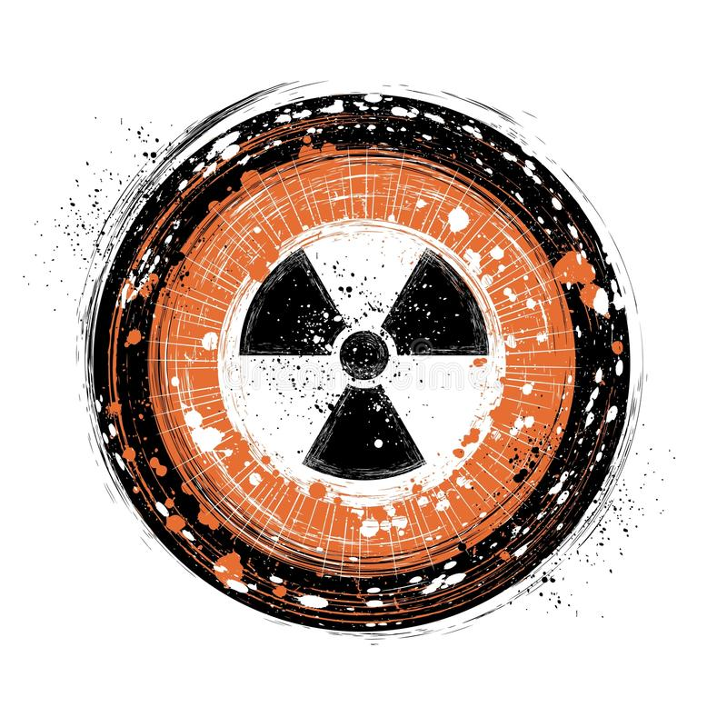 Download Radioactive background stock vector. Image of disastrous - 12272407