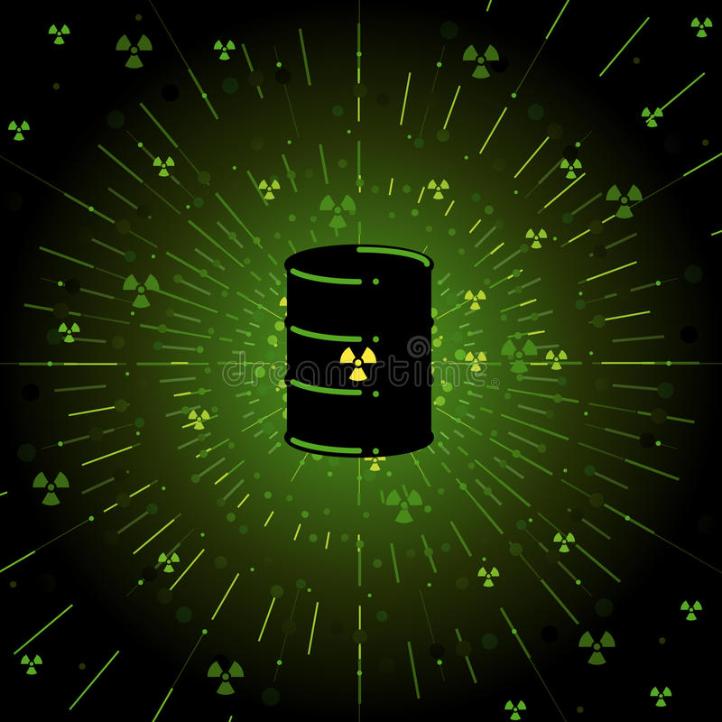 Download Radioactive barrel stock vector. Image of radiated, heavy - 14307260