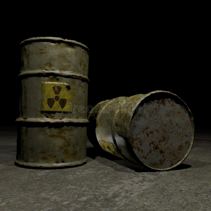 Free Radioactive Barrels Royalty Free Stock Photos - 19299228