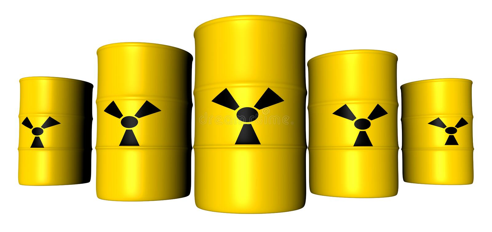 Radioactive Barrels royalty free illustration