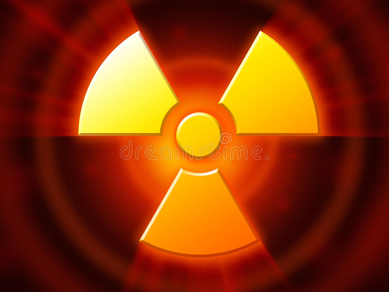 Radioactive danger symbol royalty free illustration