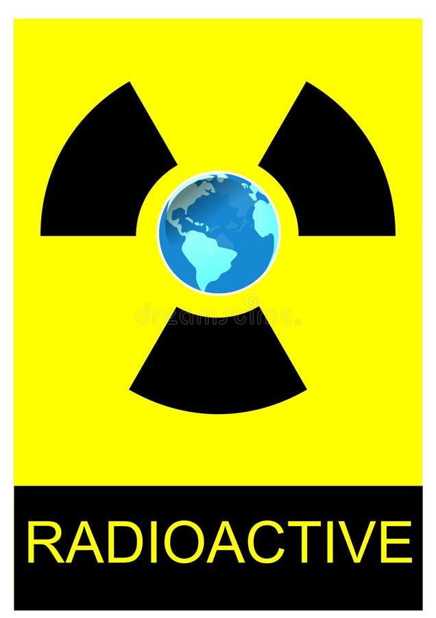 Radioactive earth stock illustration
